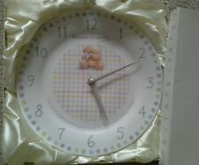forever friends wall clock Porcelain baby room baby shower Present/Gift home dec