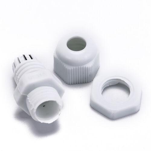 10X für 3-6.5mm kabel wasserdicht kunststoff kabelverschraubung stecker ZP