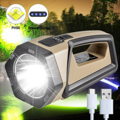 1500LM P50 LED Flashlight 10W Worklight Camping Searchlight Torch Rechargeable