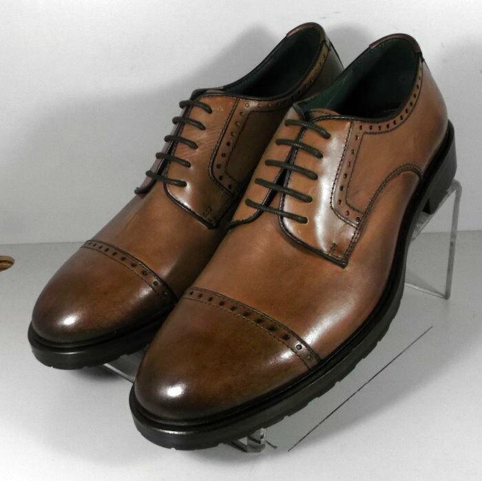 271536 ES50 Chaussures Hommes Taille 10 m Dark Tan en cuir à lacets Johnston & Murphy