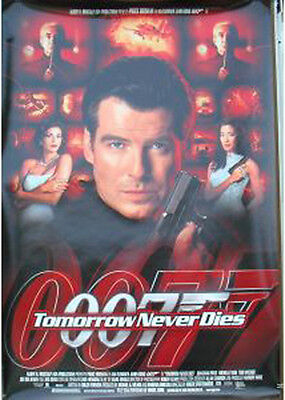 """007 P Brosnan TOMORROW NEVER DIES 1997 Original DS 2 Sided 27x40"""" Movie Poster"""