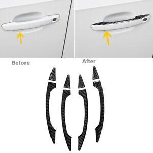 Carbon Fiber Printed Door Handle Bowl Sticker Cover Trim for Audi A3 2013-2019