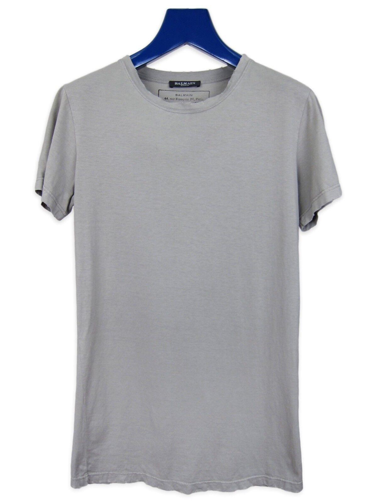 Balmain Faded grau Distressed Military T-Shirt AW11 sz. XS