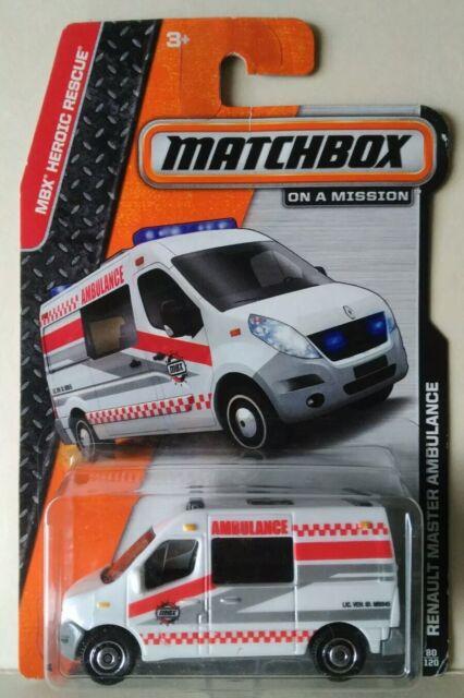 MATCHBOX RENAULT MASTER AMBULANCE MBX HEROIC RESCUE 1/64 DIECAST THAILAND VAN
