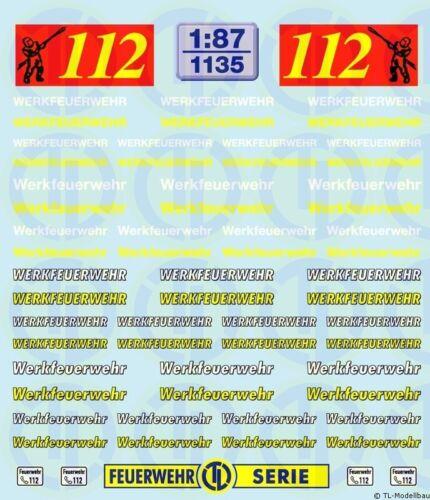 Decals Werkfeuerwehr Schriftzüge 1:87 1135