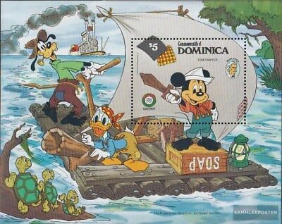 kompl.ausg. Dutiful Dominica Block103 Postfrisch 1985 Walt-disney-figuren To Ensure A Like-New Appearance Indefinably