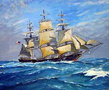 MARITIME MERCHANT LIVERPOOL A SAILING SHIP IN OPEN SEAS  H  G  MOORE 1950/60