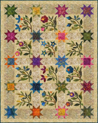 From Laundry Basket Quilts NEW SPRING SPROUTS QUILT QUILTING PATTERN ONLY