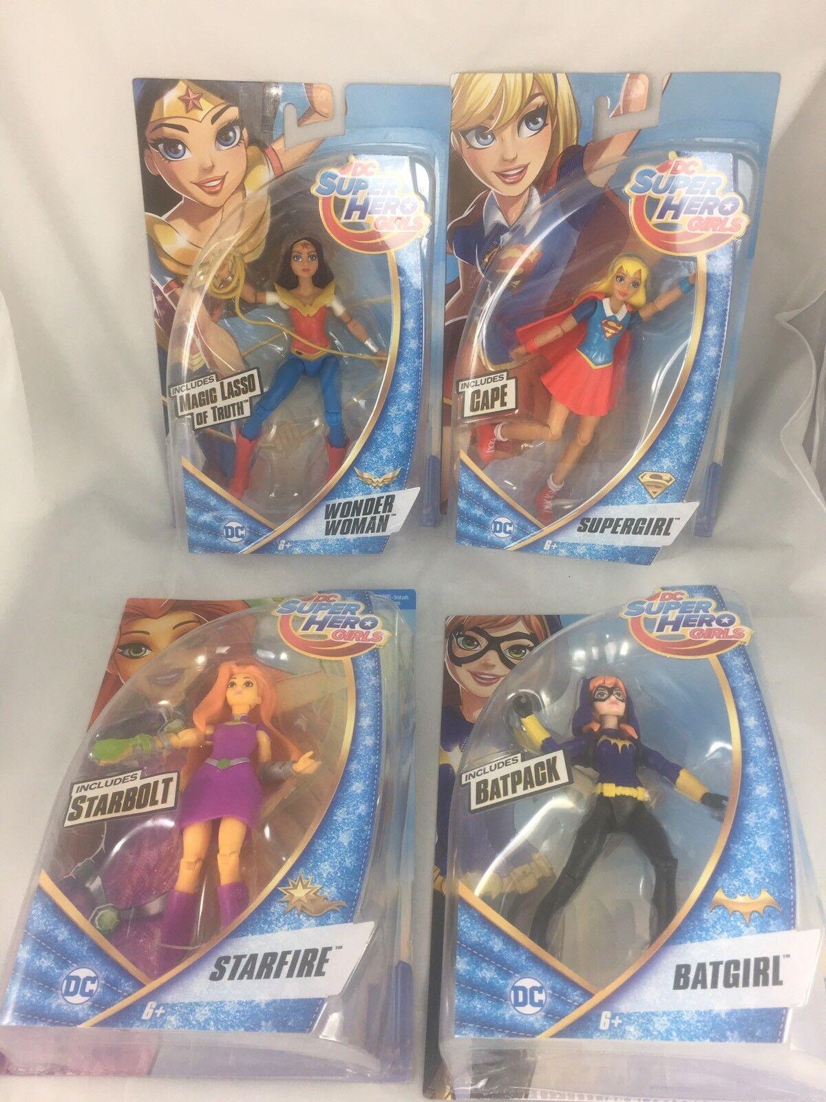 (Lot Of 4) NIB DC Superhero Girls Starfire Wonder Woman Supergirl Batgirl