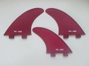 FCS compatible set x 3 Al Merrick template AM1 PERFORMANCE CORE surfboard FINS