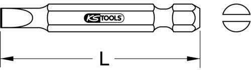 "50mm 5er Pack 2mm KS Tools 1//4/"" CLASSIC Bit Schlitz"