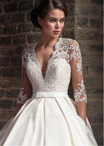 Spitze-Brautkleid-Hochzeitskleid-Kleid-Braut-3-4-Armel-Babycat-collection-BC832