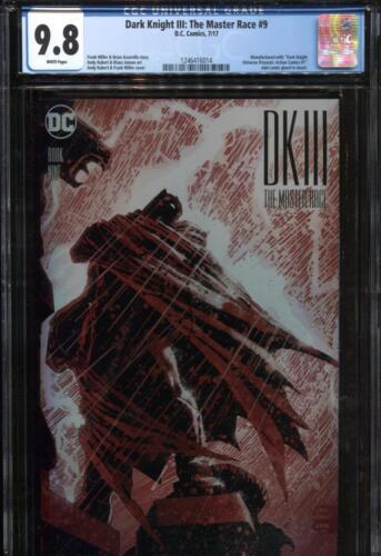 DARK KNIGHT III THE MASTER RACE #9 CGC 9.8 NM//MT ~ 1ST PRINT KUBERT BATMAN COVER
