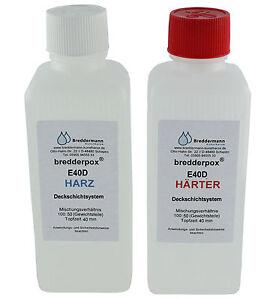 Epoxid Deckschichtharz E40D transparentes Resin 1,5 kg wasserklar Epoxy Gießharz