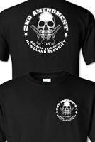 Homeland Security Skull  gun 2nd amendment T SHIRT s m l xl 2x 3x 4x 5x
