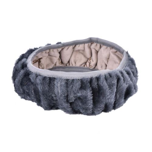 Fashion Plush Warm Fur Steering Wheel Cover Woolen Handbrake Car Accessory CL