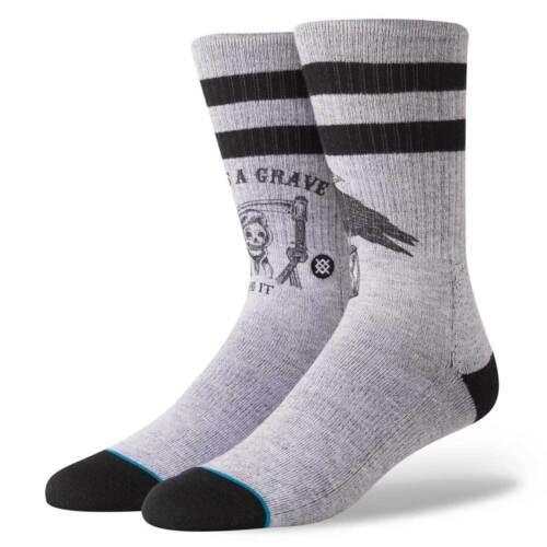 Calze Stance Lifes a Grave Socks Grey Calzettoni da Uomo