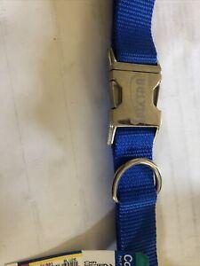 Coastal Adjustable Dog collar blue With Metal Buckle