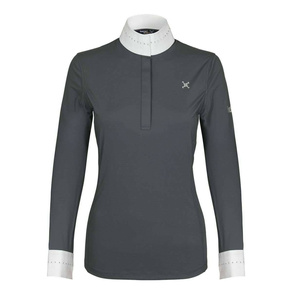 Trotstep Solo Eclipse Long Sleeve Show Shirt in AirSilk with Crystal Details