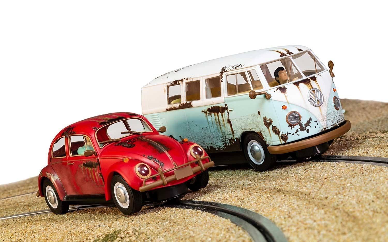 Scalextric C3966A VW Beetle and Camper Van West Coast Rat Look mint unused