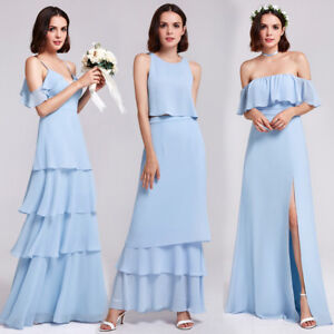 129cf79069c Ever-pretty Sky Blue Long Homecoming Dress Beach Dresses Bridesmaid ...
