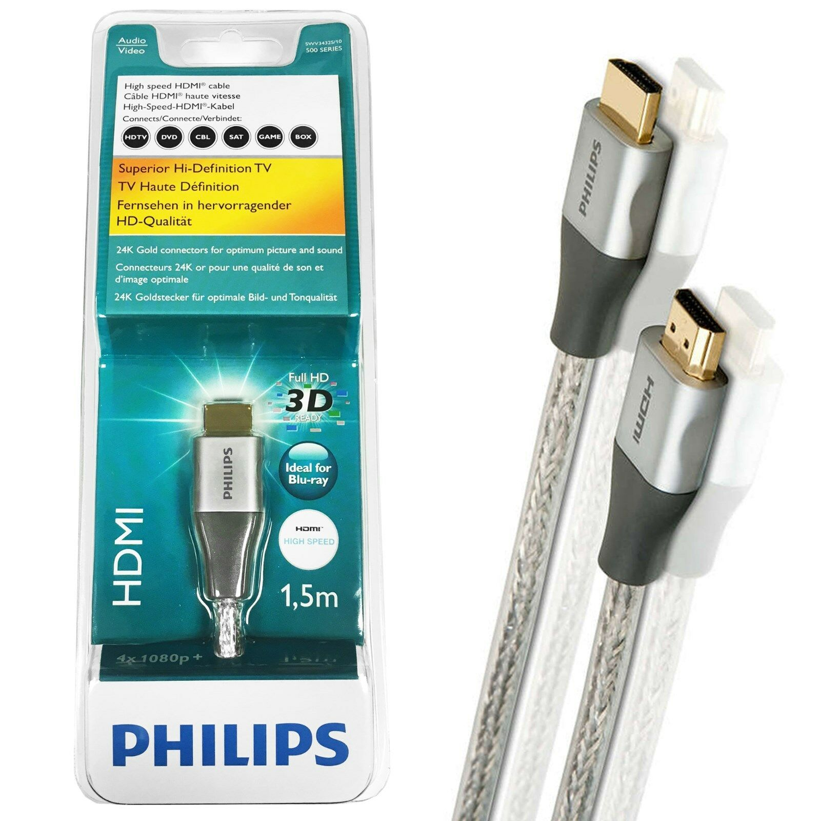 Philips (SWV3432S/10) 1.5 m HDMI Cable | eBay