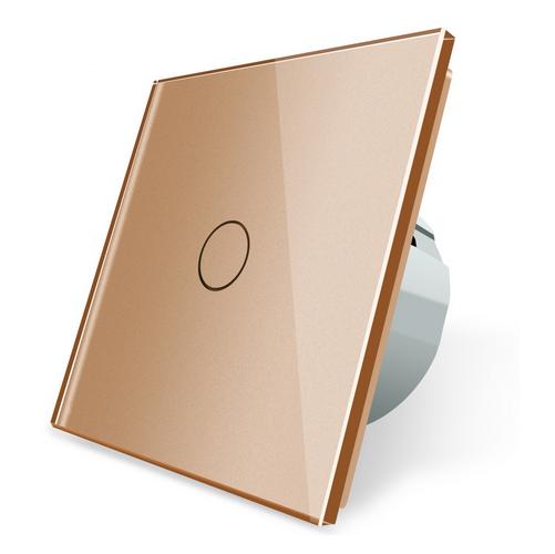 LIVOLO Funk Funkdimmer Glas Touch Dimmer Schalter Ein Aus C701DR-13 Gold | Schön