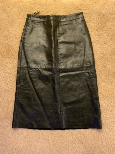 Gap Women's Leather A line Skirt Size 1 (XS)