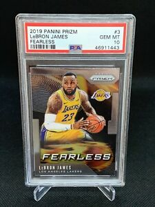 2019-Panini-Prizm-Lebron-James-Fearless-PSA-10-Low-Pop