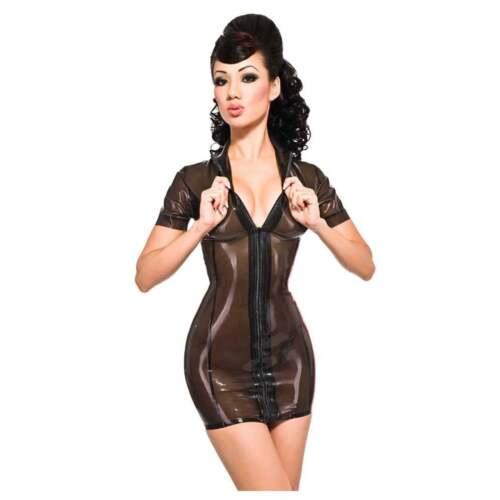 Rrp £159 Pin 11 Black Maitresse £187 39 R0334 Dress Latex Up trans Seconds RqZT8