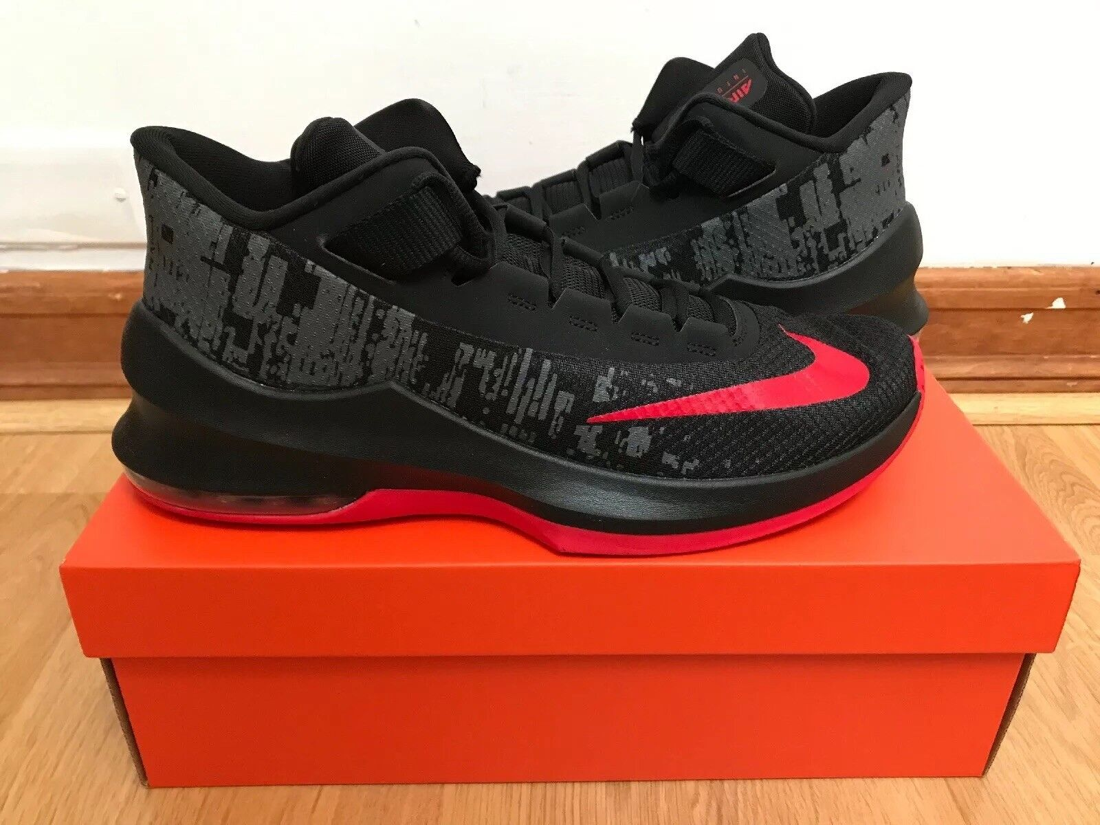 info for 13d1d f51fc Mens Nike Air Max Infuriate 2 2 2 Mid Black Red Size 11 714c94