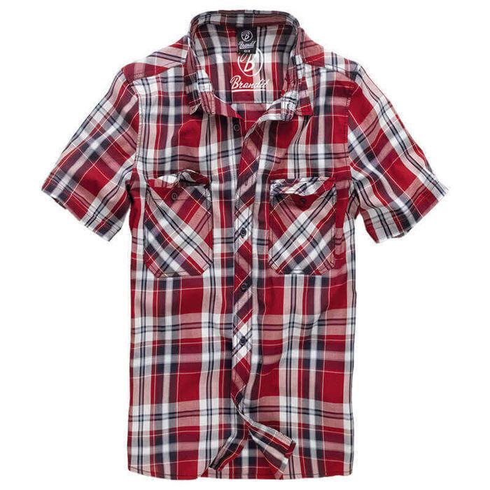 aec46bdb488db0 Casual Shirt Brandit Short Sleeve Roadstar 2 Red 1 4012.38 ...