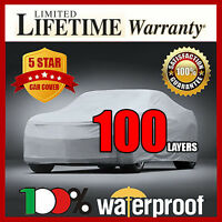 100-layer Car Cover- 100% Waterproof 100% Breathable 100% Uv & Heat Protection D