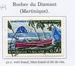 TIMBRE-FRANCE-OBLITERE-N-1644-ROCHER-DU-DIAMANT-MARTINIQUE