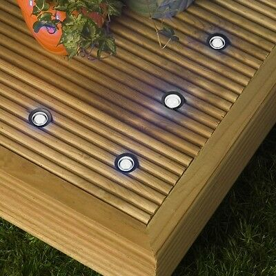 10 30mm LED Lights Plinth/Decking/Deck WHITE IP66 NEW