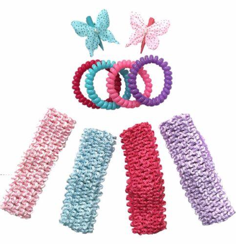 Pack de 10 assortiment filles cheveux accessoires Set - sac parti Fillers / Noël S