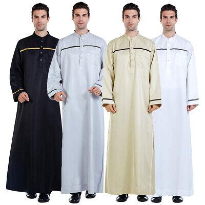 Saudi Thobe jubba Dishdasha Thawb Thoub Muslim Islamic Abaya Daffah Maxi Kaftan