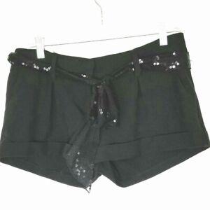 CHARLOTTE RUSSE Black Shorts w/Sequin Belt, size 9
