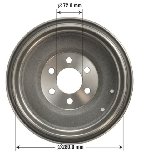 Brake Drum Rear OMNIPARTS 13034136