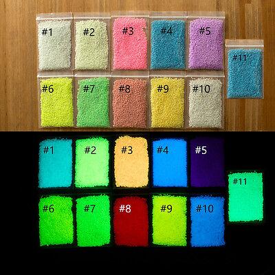 Fluorescent Super Bright Glow-in-the-Dark Sand Particles Glow Pigment