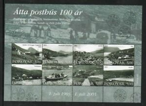 Faroe-Islands-Scott-435-2003-Old-Post-Offices-stamp-sheet-mint-NH