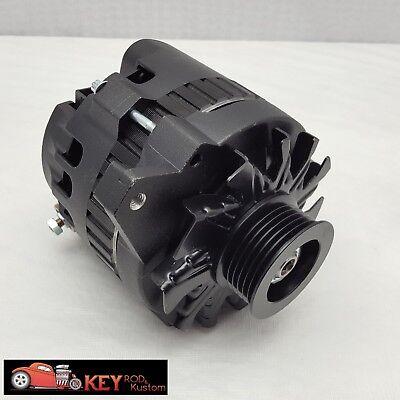 GM Black CS130 160 Amp Alternator Serpentine Belt 1 Wire Chevy SBC ... gm alternator identification eBay