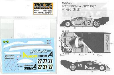 Inteligente Mz Decals 962c From-a Jspc '87 Per Kyosho Mini-z Mz0030 Adesivi New Da Giappone