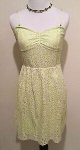Aeropostale-Women-039-s-Junior-039-s-Green-Spaghetti-Strap-Sun-Lace-Dress-Size-Medium