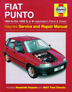 haynes workshop repair service manual fiat punto 94 99 3251 rh ebay co uk haynes fiat punto manual pdf haynes fiat grande punto manual