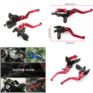 22mm-7-8-034-Motorcycle-CNC-L-R-Front-Brake-Clutch-Master-Cylinder-Lever-Reservoir