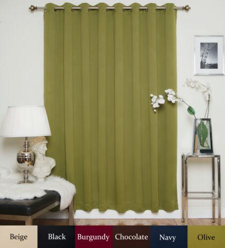 "RETURNED ITEM Wide Width Nickel Grommet Top Blackout Curtain 100/"" by 84/"" Panel"