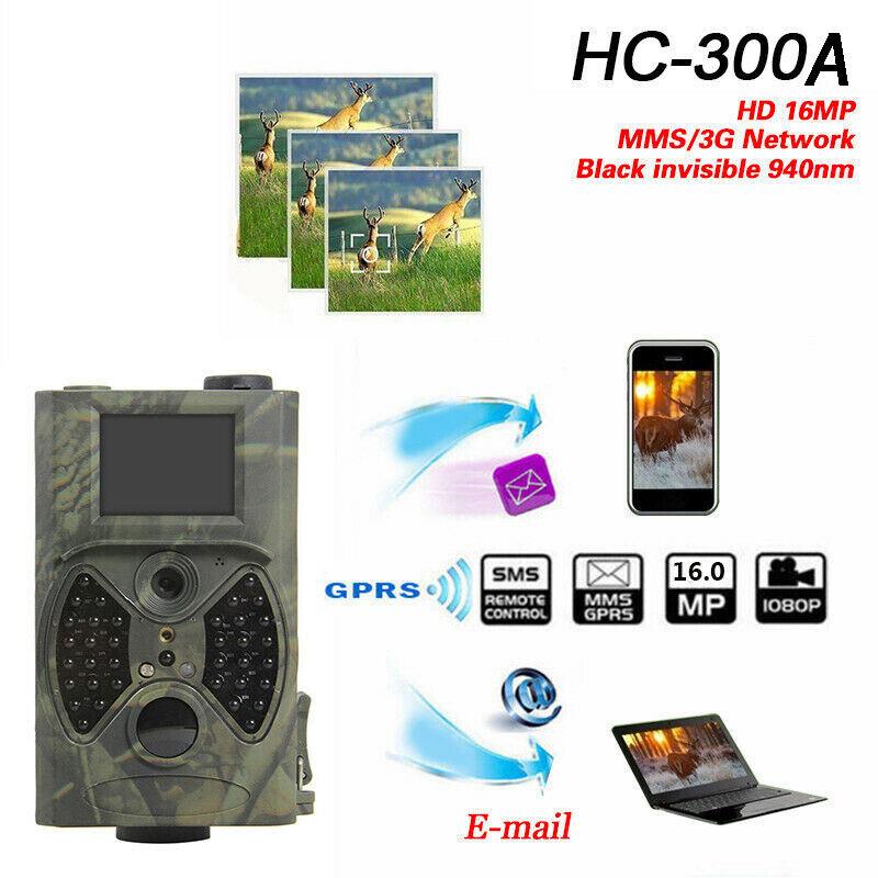 SunTek HC-300A HD 12MP Hunting Trail Camera Video Scouting Infrared Night Vision