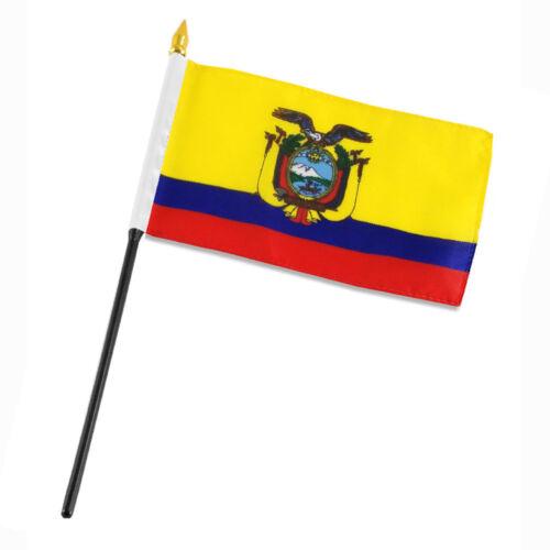 "Ecuador 4/""x6/"" Flag Desk Table Stick"