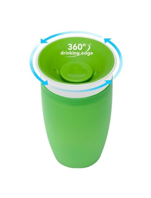 Munchkin Miracle 360 Sippy Cup New 10 Ounce 2 Count Free Shippi Green//Blue